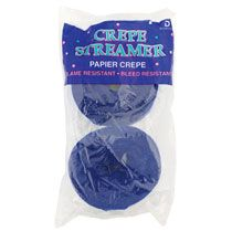 Blue Crepe Paper Streamers, 70½-ft., 2-ct. Packs