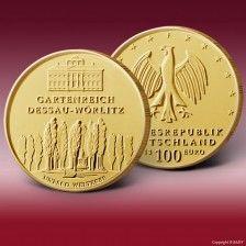 Goldmünze 100 Euro Dessau-Wörlitz 2013 F