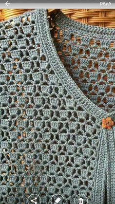 """diy_crafts-pared Free Crochet Shawl Pattern Charts For This Winter - New Craft Works"""", """"pretty leaf edging used as button holes sweater det Pull Crochet, Gilet Crochet, Crochet Coat, Crochet Cardigan Pattern, Crochet Jacket, Freeform Crochet, Crochet Blouse, Crochet Shawl, Crochet Clothes"""