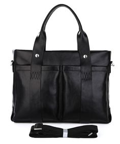 'Executive' 15-inch Black Business Messenger Bag (Ships From Amazon)