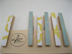 Decorative Clothespins -- use with Chickenwire Frame, Office Organization