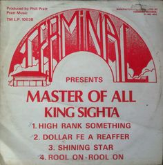 King Sighta - Master Of All (back cover)