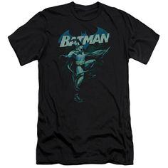 BATMAN/BLUE BAT - S/S ADULT 30/1 - BLACK -