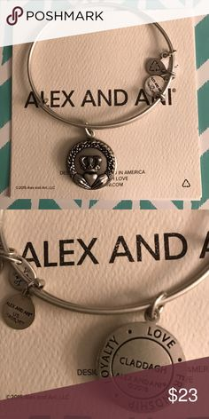 Alex and Ani Bracelet  CLADDAGH .                                                            Love / Loyalty / Friendship . Alex & Ani Jewelry Bracelets