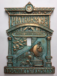 """A light switch cover to add to your Harry Potter–themed bedroom. 24 Gifts For Anyone Who Likes """"Harry Potter"""" More Than People Objet Harry Potter, Harry Potter Bathroom, Décoration Harry Potter, Harry Potter Nursery, Hogwarts, Casas Estilo Harry Potter, Harry Potter Light, Harry Potter Thema, Harry Potter Bricolage"""