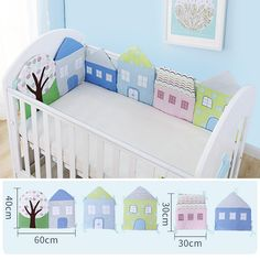 Cheap infant crib bumper, Buy Quality crib bumper directly from China bumper bed Suppliers: Infant Crib Bumper Bed Protector Baby Kids Cotton Cot Nursery bedding House bumper for boy and girl Baby Cot Bumper, Baby Crib Bumpers, Cot Bedding Sets, Nursery Bedding, Baby Diy Projects, Baby Crafts, Baby Girl Clipart, Bed Protector, Baby Decor