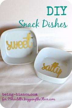 DIY Snack Dishes - inexpensive and easy to make | being-bianca.com | #dish #ikea #entertain #host #paint #decor #snack