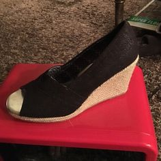 2 pairs!!  Shoes never worn 2 pairs!!!  Shoes never worn Faded Glory Shoes Wedges
