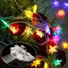 [US$7.13] Battery Operated 50LEDs Star Fairy String Light Indoor Outdoor for Christmas Party DC4.5V #battery #operated #50leds #star #fairy #string #light #indoor #outdoor #christmas #party #dc4.5v