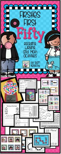 This 50 day celebration packet for first graders consists of a few fun center rotations, as well as some whole group fun. Use these activities to supplement a much larger event or keep it small and simple. $
