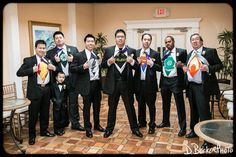 Brian and his groomsmen showing off their superpowers.  #superman #groom #groomsmen #silly @dbeckerphoto