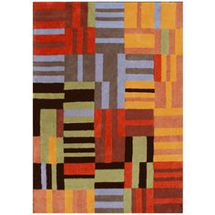 DYNAMIC RUGS Nolita Rectangular Multicolor Block Tufted Wool Area Rug (Common: 5-ft x 8-ft; Actual: 5-ft x 8-ft)