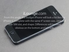 Budget iPhone design to be a mix of iPhone 5, iPod Touch and iPod Classic, report claims.  Rumors and reports surrounding a budget iPhone are coming thick and fast now, with the latest one claiming the device's design will feature elements of the current iPhone, the iPod Touch and iPod Classic.