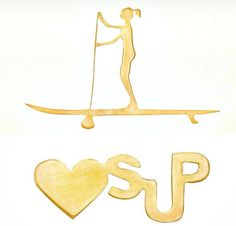 Pingentes SUP Girl e Love SUP em Ouro 18k, disponíveis  em vários tamanhos. .   SUP Girl and Love SUP Pendants in 18 Gold, selling in Brazil and USA.  , several sizes, registered desings. #paddleboarding #supfitness #suplifestyle #standuppaddle #paddleboa