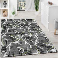 Teppich Modern Wohnzimmerteppich Kurzflor Grau Grn Creme Meliert Ausverkauf Wohn Und Schlafbereich Designer