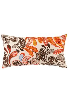 Paisley Pillow in Orange and Brown design by Trina Turk