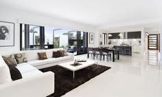 Hayman - Metricon Homes Open plan Kitchen, dining & living area. Love the huge L shaped lounge too. Living Room Renovation, Luxury Living Room, Room Design, Kitchen Design Open, Open Plan Kitchen Dining, Room Renovation, Open Living Room Design, Living Room Interior, House Interior