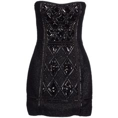 Balmain Short Dress ($1,960) ❤ liked on Polyvore featuring dresses, balmain, short dresses, vestidos, black, beaded dress, sleeveless beaded dress, zipper mini dress, no sleeve dress and sleeveless cocktail dress
