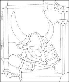 Stained Glass Patterns ::: Viking Artifacts