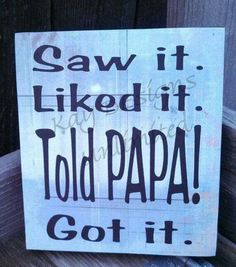 Gift for dad and papa for father's day. Unique birthday gift or Christmas gift for dad and papa. See our shop for more grandparent signs! Papa Quotes, Grandma Quotes, Sign Quotes, Qoutes, Cousin Quotes, Daughter Quotes, Father Daughter, Family Quotes, Best Dad Gifts
