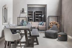 Afbeeldingsresultaat voor industriele woonkamer