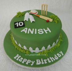 65 Ideas Birthday Cake For Husband Men Fondant Birthday Cakes For Men, Cricket Birthday Cake, Cricket Theme Cake, Birthday Cake For Husband, Cakes For Boys, Cake Birthday, Birthday Ideas, Happy Birthday, Birthday Boys