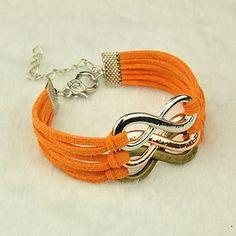 Suede infinity bracelet
