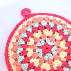 Crochet Round Hot Pads And Granny Squares On Pinterest
