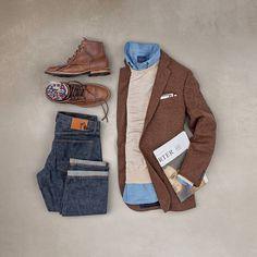 "2,327 aprecieri, 12 comentarii - Matt Graber (@matthewgraber) pe Instagram: ""Who else is still wearing tweed? #grabergrid - Boots: @vibergboot Socks: @chupsocks Denim:…"""