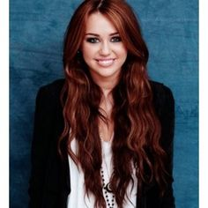 miley cirus red hair | Cyrus Hairstyles Miley Wavy Long Red Hair Glitsy Fashion Design ...