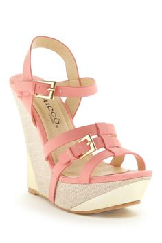 Coral wedge sandal //