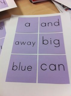 Sticky note sight word flash cards.