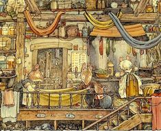 """The books comprising """"Brambly Hedge"""" illustrate in detail the lives and adventures of a community of mice who live in Brambly Hedge. Brambly Hedge is an idyllic spot where old values flourish and seasonal self-sufficiency is the order of the day."""