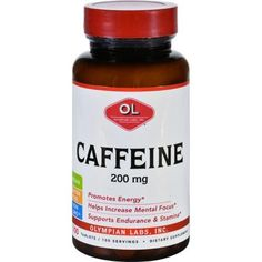 Olympian Labs Caffeine 200 Mg 100 Tablets