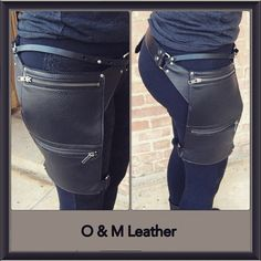 Adjustable leather hip and holster pouch. #o_mleather #leather #hippouch  #holster #garder #holsterpouch #holsterbag #garderbag #burningman #handmade #rivets