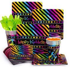 Neon Birthday Standard Kit - http://1stbirthdaypartytheme.com/neon-birthday-standard-kit.html