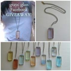 Handmade fused glass Necklace GIVEAWAY! To enter Visit https://www.facebook.com/graycglass?ref=hl