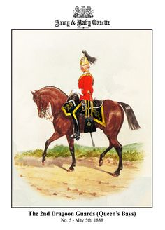 British; 2nd Dragoon Guards (Queen's Bays), 1888 by R.Simkin