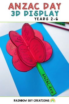Looking for a new way to teach your students about the importance of Anzac Day? Our 3D poppy display is suitable for a variety of year levels. Pick the template of your choice to have an engaging and purposeful discussion about Anzac Day. Finish up with a gorgeous poppy display! Get your copy here. Primary Classroom, Primary School, Fourth Grade, Second Grade, Poppy Template, Teaching Resources, Teaching Ideas, Rainbow Sky, Anzac Day