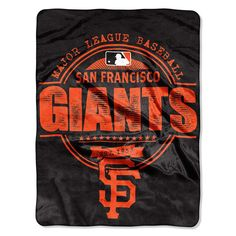 San Francisco Giants MLB Micro Raschel Blanket (Structure Series) (46in x 60in)