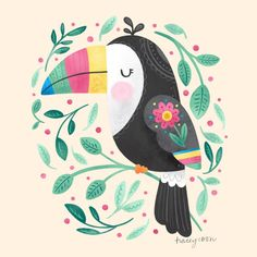 """Noonday Design   Tracey Coon on Instagram: """"A darling little toucan for day 3/30 of #Procreate30"""""""
