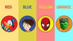 Aprendendo Cores com Injeções Homem Aranha, Minions, Trolls e Pato Donald