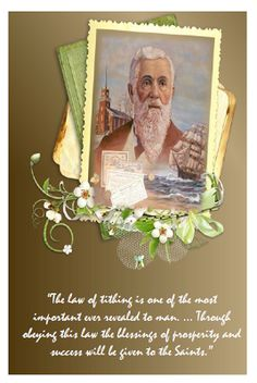 Didi @ Relief Society: Lorenzo Snow - Chapter 12 - Tithing, a Law for Our Protection and Advancement, handout