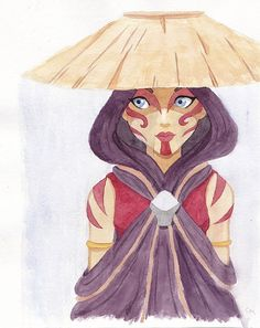 Katara the Painted Lady Watercolor Painting | Avatar the Last Airbender | Katara Waterbender 8x10 Print