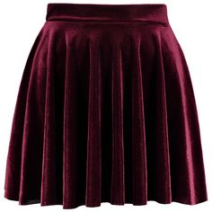 Mini Velvet A Line Skirt ($17) ❤ liked on Polyvore featuring skirts and mini skirts