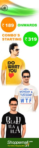 #Sale on T-shirts #ComboOffer #MenClothing #OnlineShopping #Shoppemall