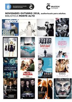 Novos audiovisuais do mes de outubro para adultos na biblioteca Monte Alto.