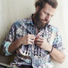 Button up without feeling like a stuffed shirt with unique fabrics and vibrant patterns.