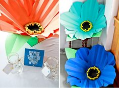 DIY Giant Paper Flowers || PHOTO SOURCE • BRIANNA COX PHOTOGRAPHY