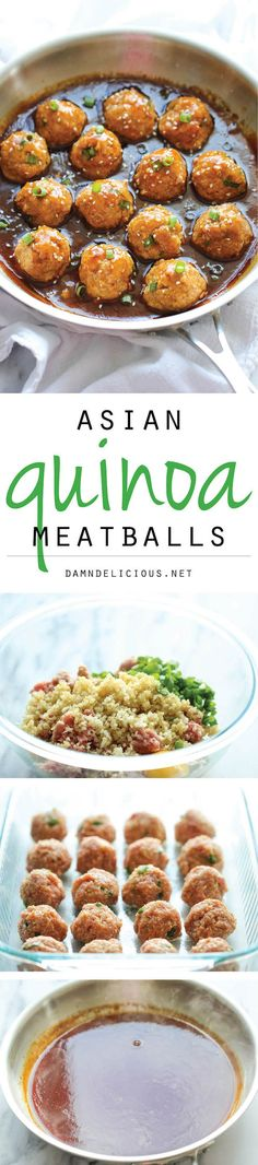 Asian Quinoa Meatballs - Healthy. nutritious and packed with so much flavor. Perfect as an appetizer or a light dinner!
